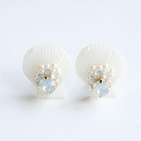 Luxury Sea Dream Pierced Earrings