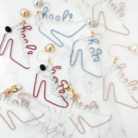 Arty Wire Pierced Earrings 2016 FW collection - hate heels  PIERCE