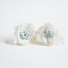 Camellia Pierced Earrings - My Memory Yellow