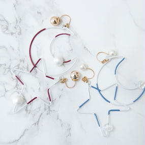 Arty Wire Pierced Earrings 2016 FW collection -moonly star  PIERCE&EARRINGS / LARGE TYPE