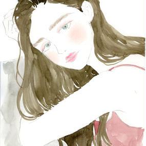 Rosy Tops Girls  /  FINE ART PRINT A4(NO FRAME)
