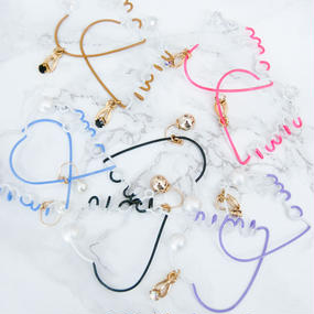 Arty Wire Pierced Earrings 2016 FW collection - oui non heart / PIERCE 2
