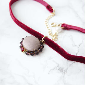 Flowing  Planet Choker - CHERRY