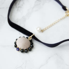 Flowing  Planet Choker - NAVY