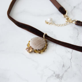 Flowing  Planet Choker - CHOCOLATE
