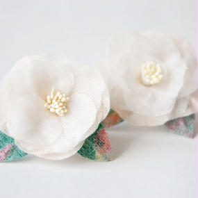 Camellia Pierced Earrings S - P-Cam-L