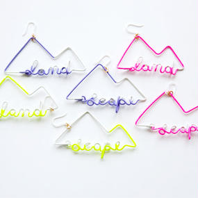 Arty Wire Pierced Earrings - land scape