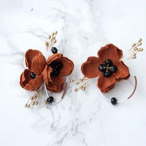 rakka ryuusui colour BRICK / EARRING