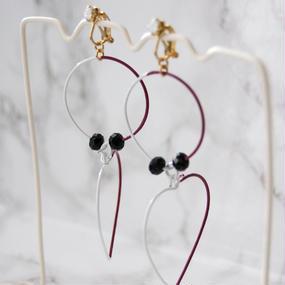 Arty Wire Earrings 2016 FW collection - heart&circle boldeaux / EARRINGS