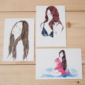Yuriko Oyama Postcard 3枚セット C