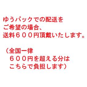 ゆうパック配送希望¥600