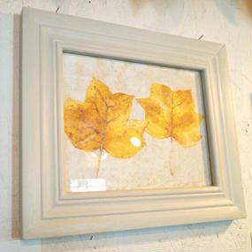 painting/ 落ち葉 -yellow