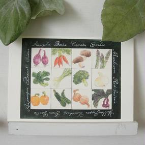 postcard / vegetables