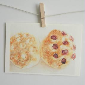 postcard / ローズマリーとドライトマトのフォカッチャ