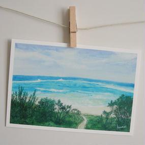 postcard / 海に続く道