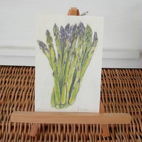 postcard / asparaguses