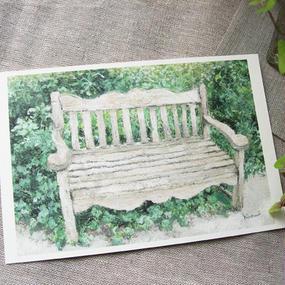 postcard / 葉に包まれた椅子