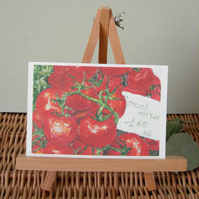 postcard / tomato