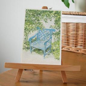 postcard / 青い椅子
