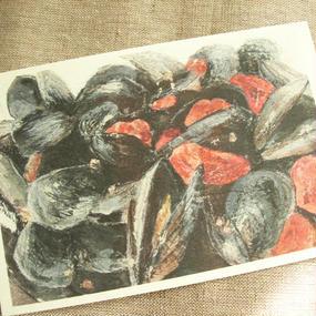 postcard / ムール貝とドライトマトのワイン蒸し