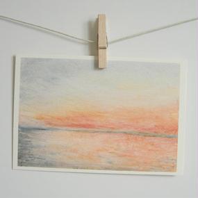 postcard / 夕暮れの海