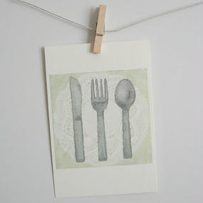 postcard / cutlery