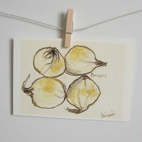 postcard / onion