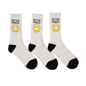 ANARCHY & PEACE SOCKS WHITE / BLACK / YELLOW