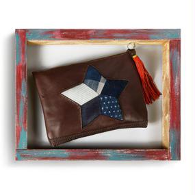PUYA / Indigo Star Clutch Bag
