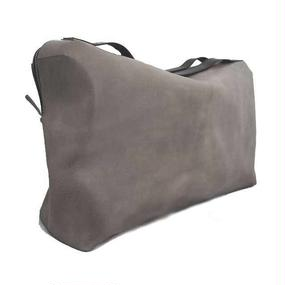 Boston bag/L/ gray/Cow Leather