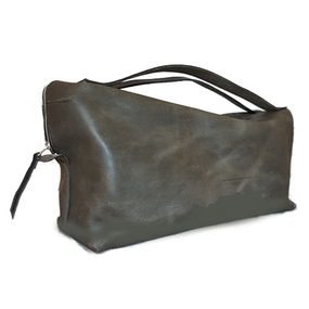 Boston bag/S/Olive gray Mirror finish