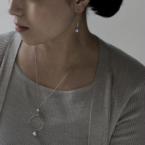【necklace】circle baroque pearl