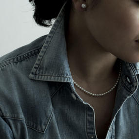 【necklace】akoya white baby pearl