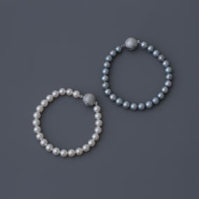 【special/bracelet】Special price white or light gray akoya pearl