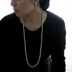 【special/necklace】Special price akoya gray baroque pearl(80cm)
