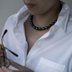 【necklace】black tahiti baroque pearl