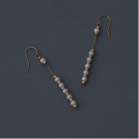 【earrings】I- line akoya baby pearl