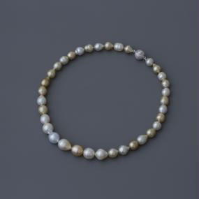 【necklace】mix goldlip baroque pearl