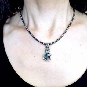 [Artemis Classic-pendant]スモールフローラルアイアンクロスペンダント