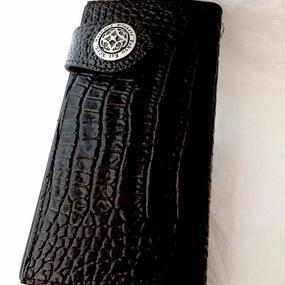 [Artemis Classic-wallet]アンティークロングウォレット(クロコスタイルミッドナイトパープル)