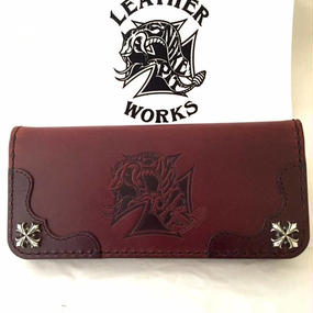 [Snake Pit Leather Works-wallet]特別価格!SPLWロゴマーク ウォレット