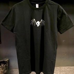 [蛇骨堂-clothes]輪舞ドクロTシャツ黒/白