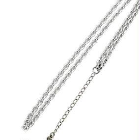 [チェーン-cn]45-50cm ステンレスオーバルあずきチェーン(4.0mm)(Artemis Classic)