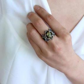 [Artemis Classic-ring]トレサリーグリーンアンバーリング