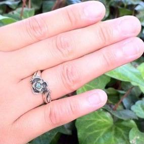 [GLAM SCALE-ring] シルバーリング薔薇(石有り)