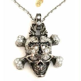 [Artemis Classic-pendant]パイレーツスカルペンダントWH