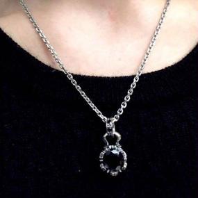 [Artemis Classic-pendant] ストーンクラウンチャームBK