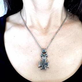 [Artemis Classic-pendant]  フローラルアイアンクロスペンダント