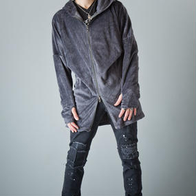 [Artemis Classic-clothes]シャギーベロアロングパーカー