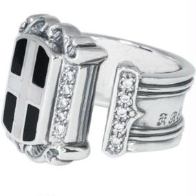 [Artemis Classic-ring]クロスエンブレムリングWH
